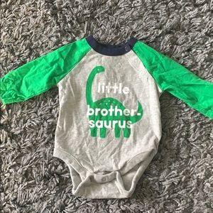 Little brother-Saurus onesie